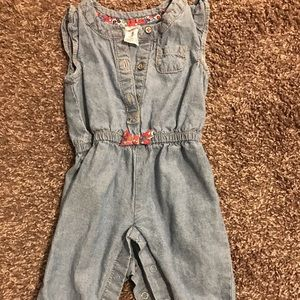 Denim one piece